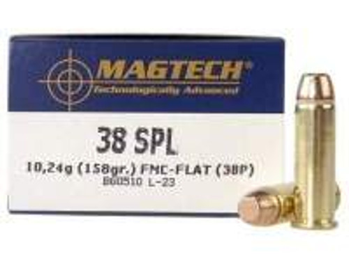 Magtech 38 Special Ammunition MT38P 158 Grain Full Metal Jacket 50 rounds