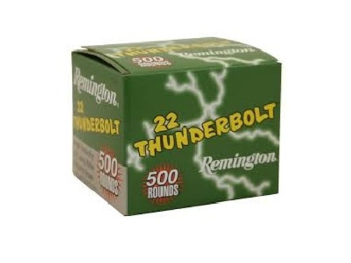 Remington 22LR Ammunition Thunderbolt TR21241 40 Grain Loose Packed 500 Rounds
