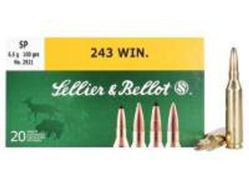 Sellier & Bellot 243 Winchester Ammunition SB243A 100 Grain Soft Point 20 rounds