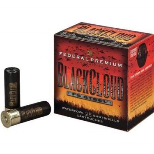 "Federal 12 Gauge Ammunition Black Cloud Waterfowl PWB1422 3"" 1-1/4 oz 1450 fps #2 Steel Shot Case of 250 Rounds"