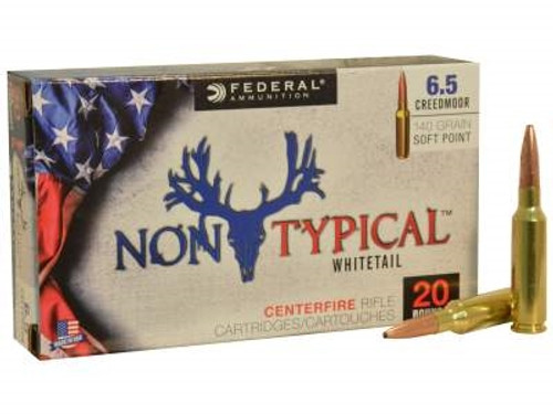 Federal 6.5 Creedmoor Ammunition Non-Typical F65CDT1 140 Grain Soft Point 20 rounds