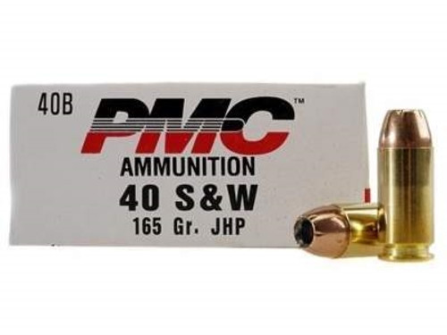PMC 40 S&W Ammunition PMC40B 165 Grain Jacketed Hollow Point 50 rounds