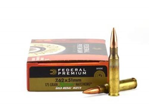 Federal 7.62x51mm NATO Gold Medal GM762M2 175 gr Sierra Matchking BTHP Match 20 rounds