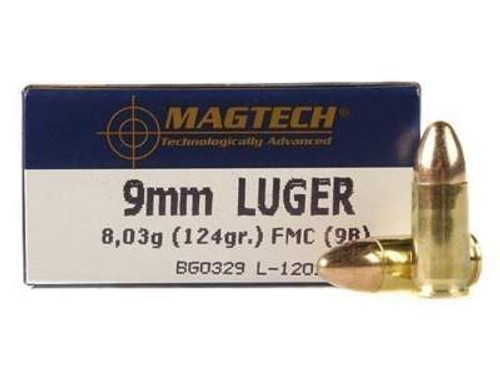 Magtech 9mm Ammunition 9B 124 Grain Full Metal Jacket Case of 1000 Rounds