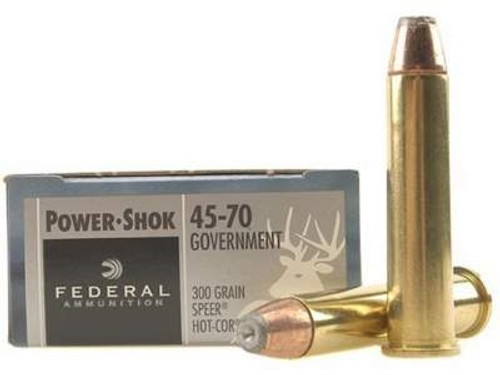 Federal 45-70 Ammunition Power-Shok F4570AS 300 Grain Jacketed Hollow Point 20 rounds