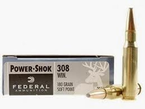 Federal 308 Win Power-Shok F308b 180 gr SP 20 rounds
