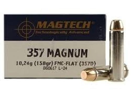 Magtech 357 Magnum Ammunition MT357D 158 Grain Full Metal Jacket-Flat 50 rounds