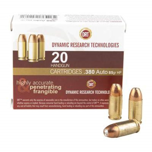 DRT 380 ACP Ammunition Terminal Shock 85 Grain Jacketed Hollow Point 900fps 20 Rounds