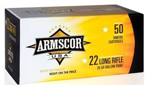 Armscor 22 LR Ammunition ARM22LRHP 36 Grain Plated Hollow Point Brick of 500 Rounds