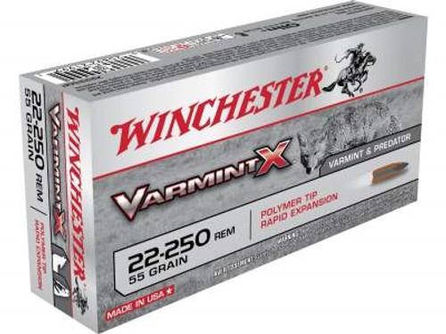 Winchester 22-250 Varmint X X22250PXL 55 gr Polymer Tip 40 rounds