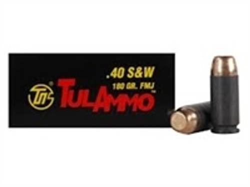 Tula 40 S&W Ammunition TA401800 180 Grain Full Metal Jacket Steel Cased Case of 500 Rounds