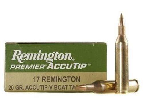 Remington 17 Remington Ammunition Premier PRA17RA 20 Grain Accutip-V 20 rounds