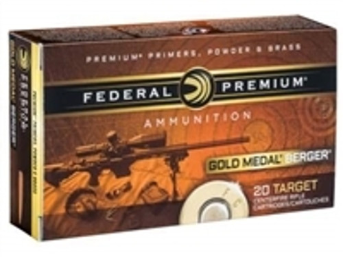 Federal 6.5 Creedmoor Ammunition Gold Medal GM65CRDBH130 130 Grain Berger Hybrid Open Tip Match CASE 200 rounds