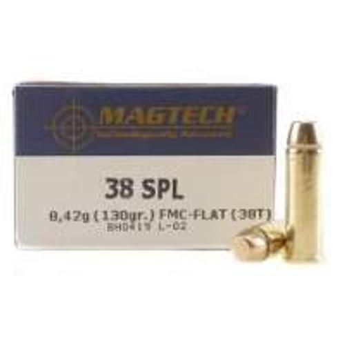 Magtech 38 Special Ammunition MT38T 130 Grain Full Metal Jacket 50 rounds