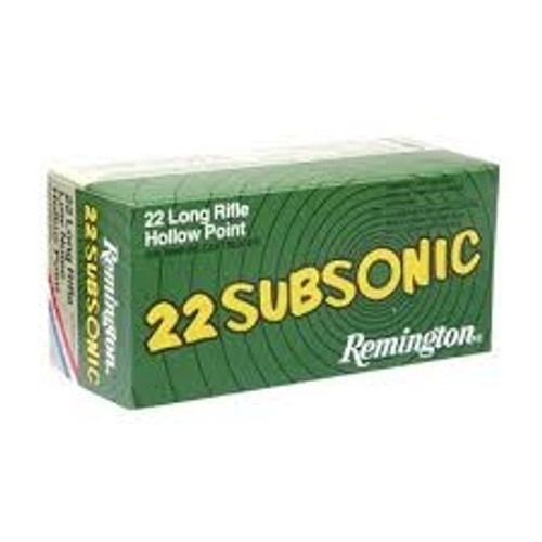 Remington 22LR Subsonic 38 Gr Lead HP 50 rounds