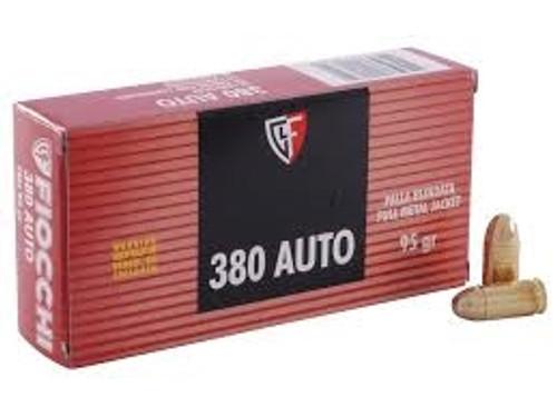 Fiocchi 380 Auto Ammunition FI380APCASE 95 Grain Full Metal Jacket 1000 rounds