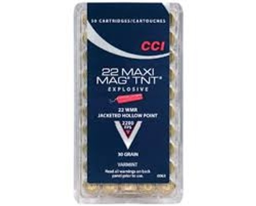 CCI 22 WMR Maxi-Mag TNT JHP CCI0063 30 gr 50 rounds