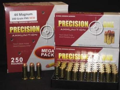 Precision One 44 Magnum Ammunition 200 Grain Full Metal Jacket 250 rounds