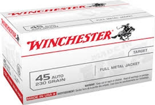 Winchester 45 ACP USA45AVP 230 Grain Full Metal Jacket Value Pack CASE 500 rounds