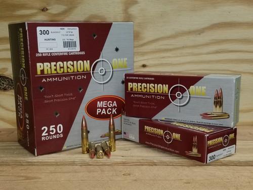 Precision One 300 ACC Blackout Ammunition PONE823 110 Grain V-Max 20 Rounds