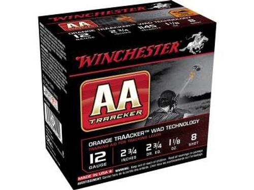 "Winchester 12 Gauge Ammunition AA Light TrAAcker Orange AA128TO 2-3/4"" 1-1/8oz #8 1145fps Orange Wad 250 rounds"