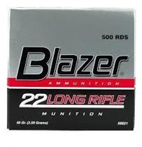 CCI 22LR Ammunition Blazer 0021 40 Grain Lead Round Nose Brick of 500 Rounds