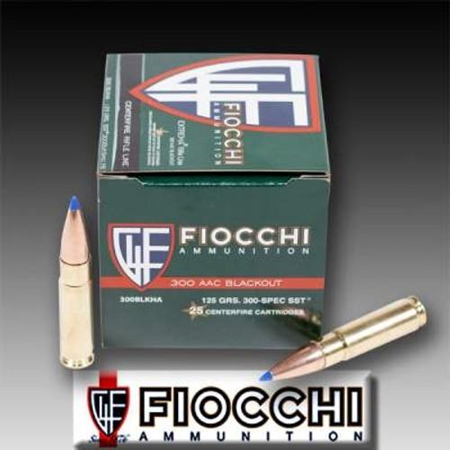 Fiocchi 300 AAC Blackout Ammunition FI300BLKHA 125 Grain SST 25 rounds