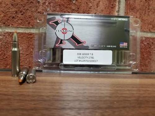Ten Ring 308 Win Ammunition 165 Grain Trophy Bonded Ballistic Tip 2781fps  20 rounds
