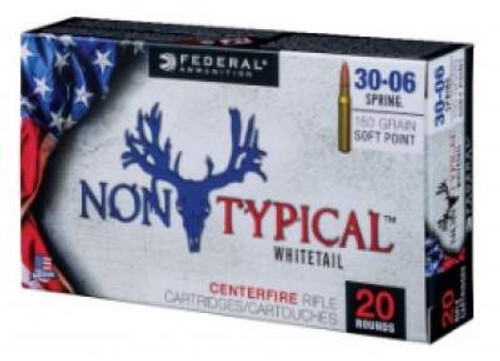 Federal 243 Win Ammunition Non-Typical F243DT100 100 Grain Soft Point 20 rounds