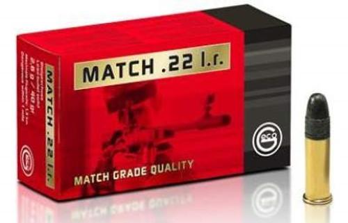 Geco 22LR Ammunition Match 40 Grain Lead Round Nose 50 rounds