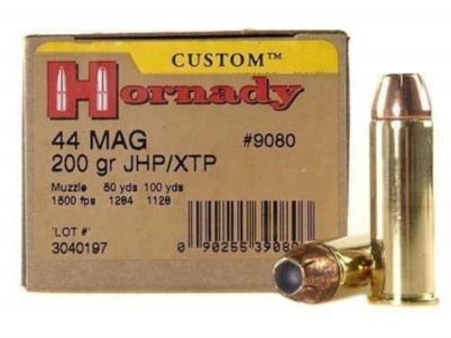 Hornady 44 Magnum Custom H9080 200 gr XTP 20 rounds
