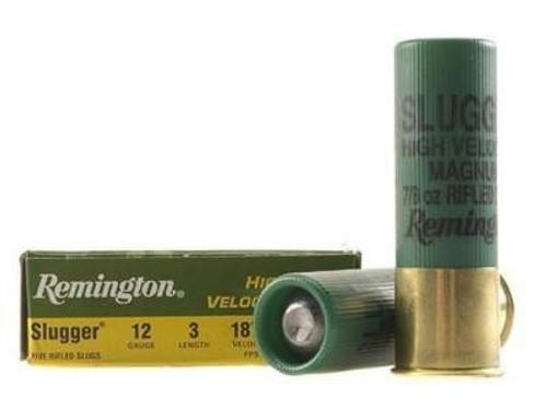 "Remington 12 GA Slugger 3"" 7/8 oz Rifled Slugs SPHV12MRS 1875fps 5 rounds"