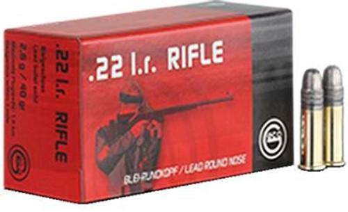 GECO 22 LR Ammunition GE254040050 40 Grain Lead Round Nose Case of 5,000 Rounds