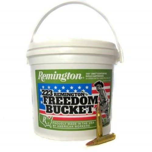 Remington 223 Rem Ammunition L223R3BC 55 Grain Full Metal Jacket Bucket of 300 Rounds