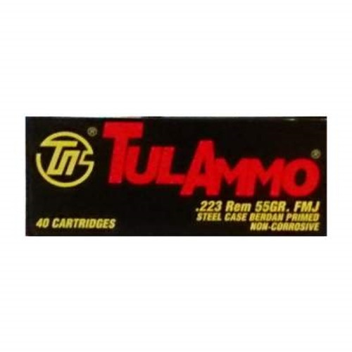 Tula 223 Remington Ammunition 55 Grain Full Metal Jacket 40 rounds