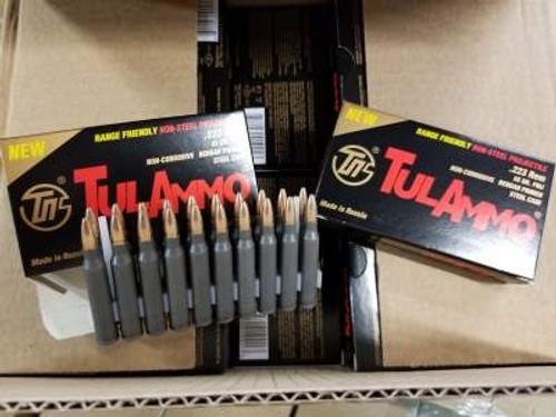 Tula 223 Rem Ammunition Range-Friendly TA223556 55 Grain Non-Magnetic Full Metal Jacket 20 Rounds