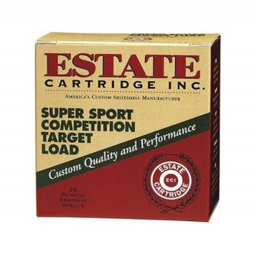 "Estate 20 Gauge Ammunition Super Sport Competition SS2075 2-3/4"" 7/8oz #7.5 Shot 1200fps Case of 250 rounds"
