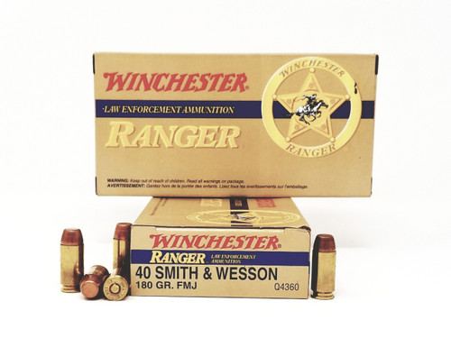 winchester 40 s w ammunition ranger q4360 180 grain full metal