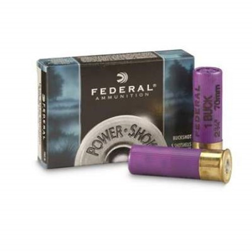 "Federal 16 Gauge Ammunition Power-Shok F1641B 2-3/4"" 12 Pellet #1 Buckshot 1225fps 50 rounds"