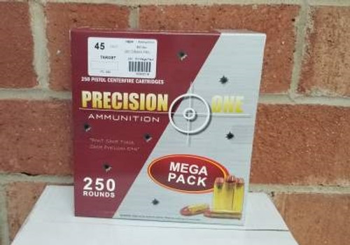 Precision One 45 Colt Ammunition 250 Grain Full Metal Jacket 250 rounds