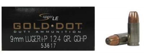 CCI 9mm +P Speer Gold Dot CCI53617 124 gr JHP 50 rounds