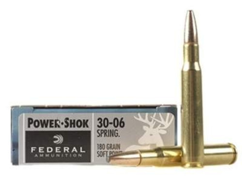 Federal 30-06 Springfield Power-Shok F3006B 180 gr SP 20 rounds