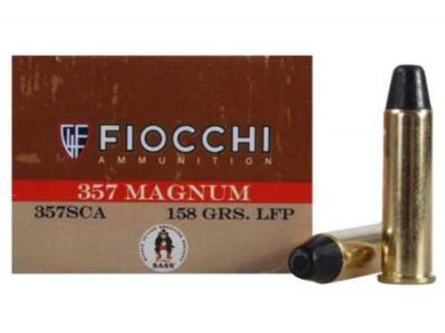 Fiocchi 357 Magnum Ammunition Cowboy Action FI357SCA 158 Grain Lead Flat Point 50 rounds