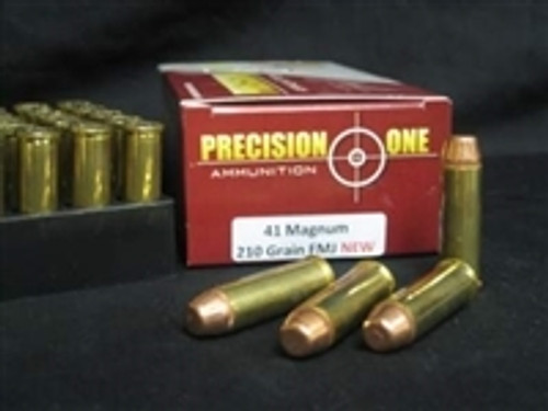 Precision One 41 Magnum Ammunition 210 Grain Full Metal Jacket CASE 500 rounds