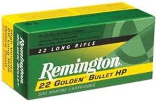 Remington 22LR Golden Bullet 36 gr HP 50 rounds