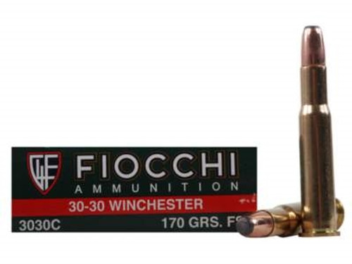 Fiocchi 30-30 Win Ammunition 3030C 170 Grain Flat Soft Point 20 Rounds