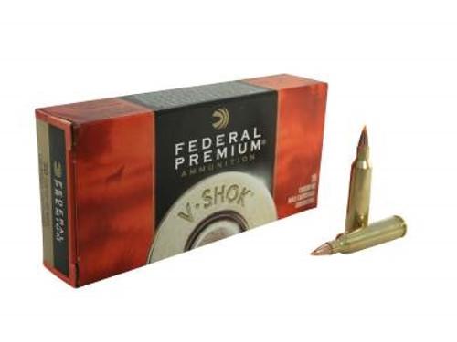 Federal 22-250 Ammuition Vital-Shok P22250F 55 Grain Nosler Ballistic Tip 20 rounds