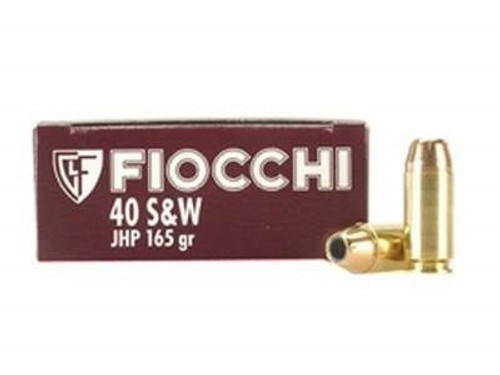 Fiocchi 40 S&W Ammunition FI40SWC 165 Grain Jacketed Hollow Point 50 rounds