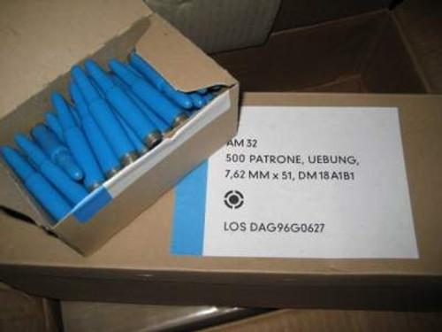DAG 7.62x51mm Ammunition SRT Plastic Training Ammo DM18A1B1 10 Grain Plastic Projectile Case of 1,000 Rounds