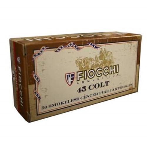 Fiocchi 45 Colt Ammunition FI45LCCA 250 Grain Lead Round Nose Flat Point 50 rounds